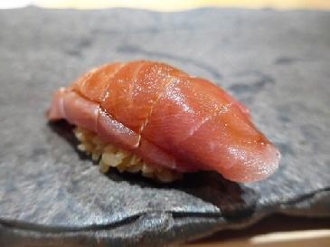 A photo of chutoro sushi