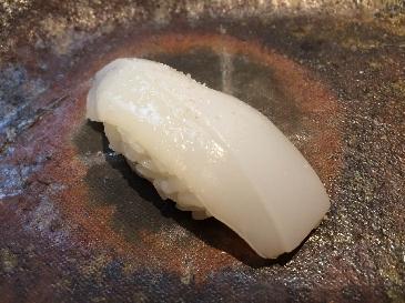 A photo of sumi ika sushi