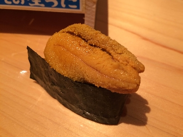 A photo of ezobafun uni sushi