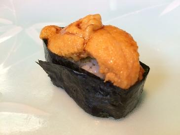 A photo of kitamurasaki uni sushi