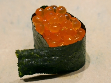 A photo of Ikura sushi
