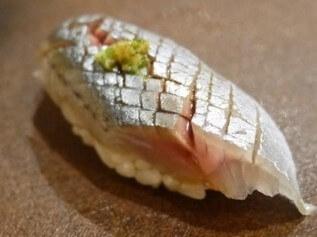 A photo of sanma sushi