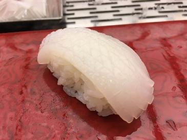A photo of aori ika sushi